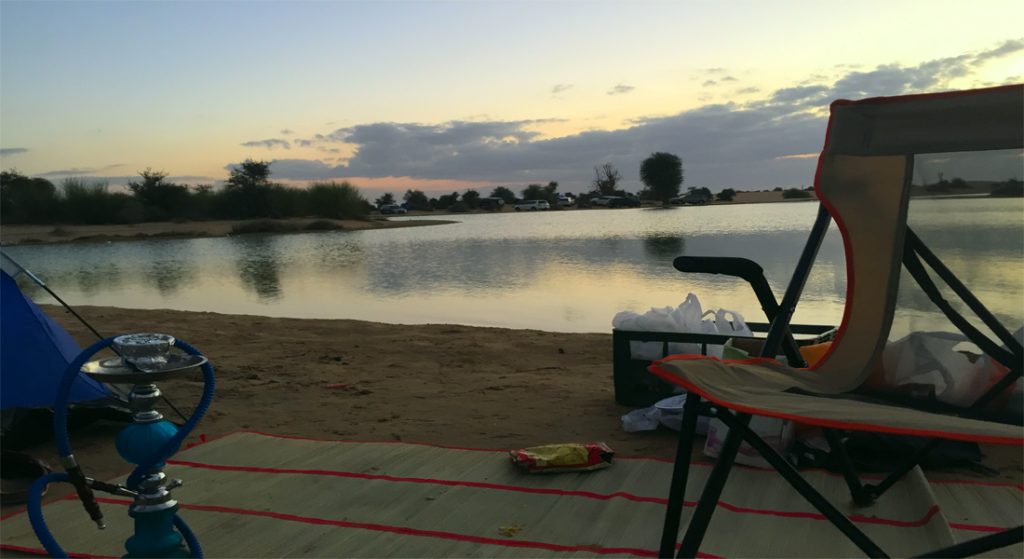Camping at Al Qudra Lake Dubai